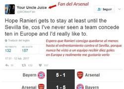 Enlace a Este fan del Arsenal se marca un auténtico FAIL de Champions