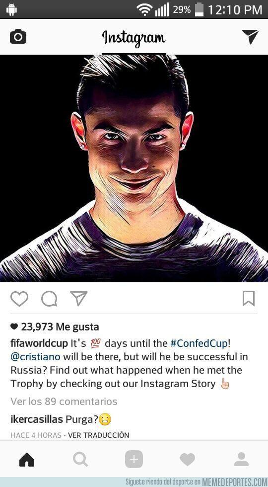 956767 - El troleo de Casillas a esta foto de Cristiano en Instagram