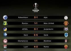 Enlace a Resultados finales de los partidos de ida de los octavos de final de Europa League. Sorpresas