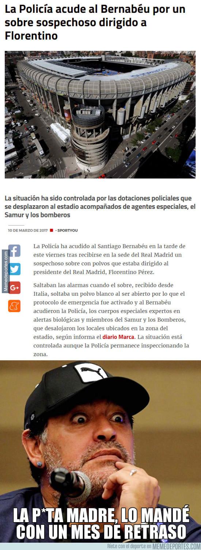 957123 - Unos polvos sospechosos llegan al Bernabéu desde Italia...