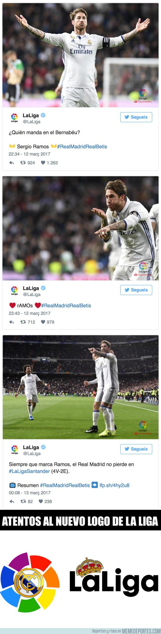 958338 - Polémica máxima por los tuits de LaLiga elogiando con descaro a Ramos