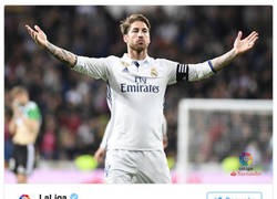 Enlace a Polémica máxima por los tuits de LaLiga elogiando con descaro a Ramos