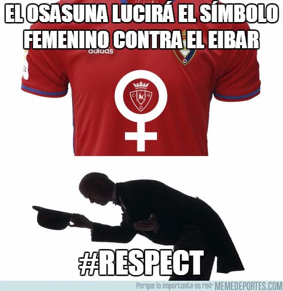 958399 - El Osasuna lucirá este símbolo contra el Eibar