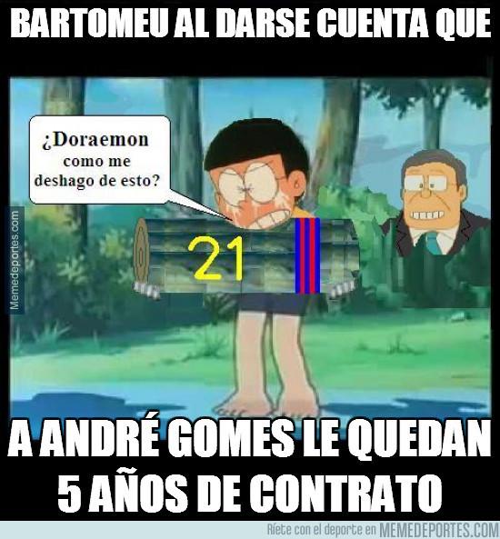 958697 - Bartomeu al darse cuenta que a este tronco del Barça le quedan 5 años
