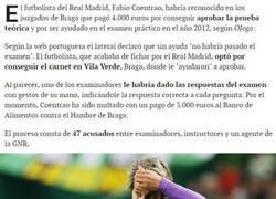 Enlace a Coentrão pagó para hacer trampas en el examen de conducir