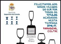 Enlace a Desde Coruña felicitan los títulos obtenidos este año por el Celta