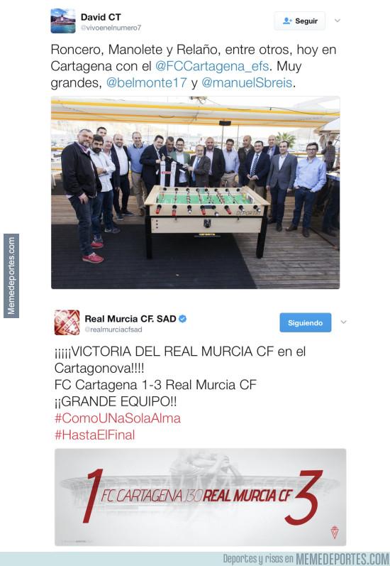 960718 - Roncero lo ha vuelto a hacer, ahora con el Cartagena