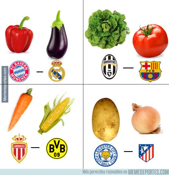 960742 - Si el sorteo de Champions fueran vegetales