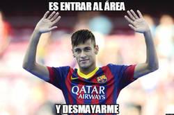 Enlace a Neymar en el área, siempre