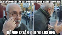 Enlace a Messi sacándosela frente al Valencia