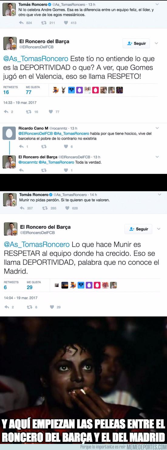 961013 - Las peleas entre Roncero del Madrid y Roncero del Barça es lo mejor que trae Twitter en años