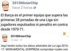 Enlace a El alucinante dato del Barça de expulsiones y penaltis en LaLiga