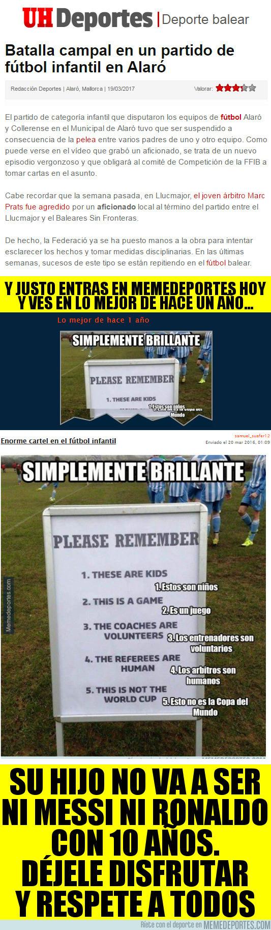 961095 - Otro vergonzoso acto de padres en el fútbol infantil...