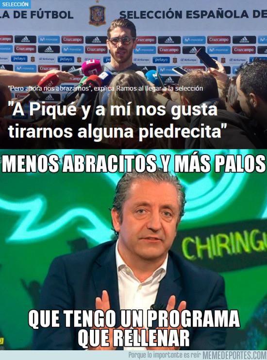 961100 - Pedrerol y cía. no están de acuerdo con los abrazos de Piqué y Ramos