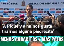 Enlace a Pedrerol y cía. no están de acuerdo con los abrazos de Piqué y Ramos