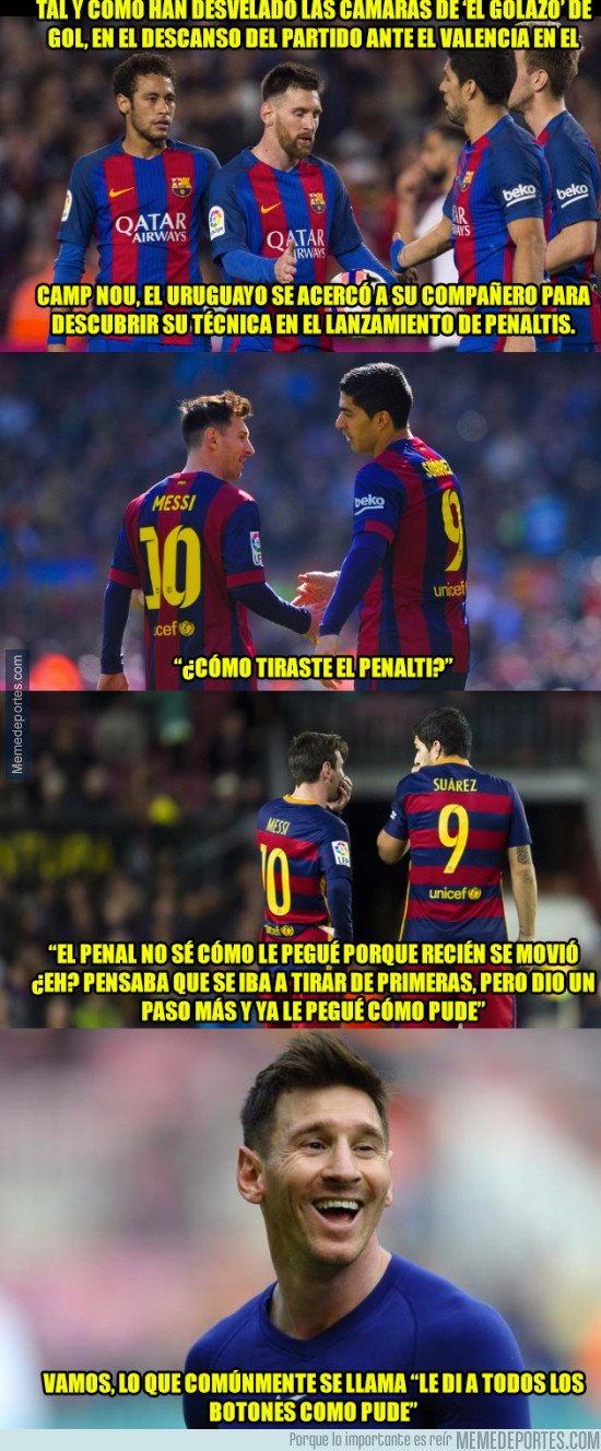 961265 - Messi le confesó el truco para marcar el penalti ante el parapenaltis Diego Alves