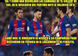Enlace a Messi le confesó el truco para marcar el penalti ante el parapenaltis Diego Alves