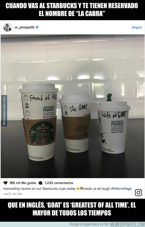 961430 - El cachondo nombre de Michael Phelps en la taza del Starbucks