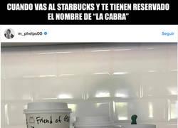 Enlace a El cachondo nombre de Michael Phelps en la taza del Starbucks