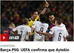 Enlace a Aytekin no será sancionado por la UEFA