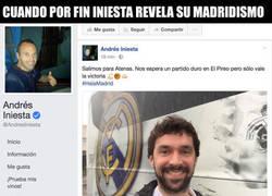 Enlace a Iniesta publica en su Facebook su apoyo al Real Madrid y todo el mundo enloquece