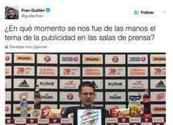 Enlace a Parece que estén haciendo la Rueda de Prensa en el Mercadona, por @guillenfran