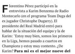 Enlace a Florentino y Benzema con