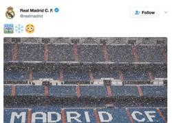 Enlace a El Real Madrid twittea acerca de la nieve del Madrid y el Bayern les contesta esta 'amenaza'