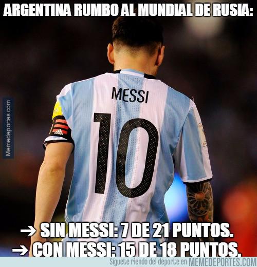 961957 - La relevancia que tiene Messi en Argentina