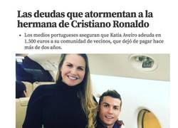 Enlace a La tremenda deuda que tiene la hermana de Cristiano Ronaldo