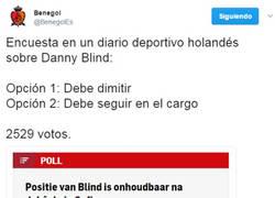 Enlace a Lo tiene jodidillo Danny Blind en el banquillo 'oranje'