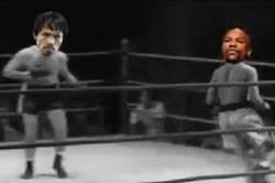 Enlace a GIF: Floyd Mayweather contrata a Pacquiao para entrenar antes de enfrentar a McGregor
