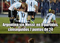 Enlace a ¿Peligra la clasificación de Argentina para el mundial sin Messi?