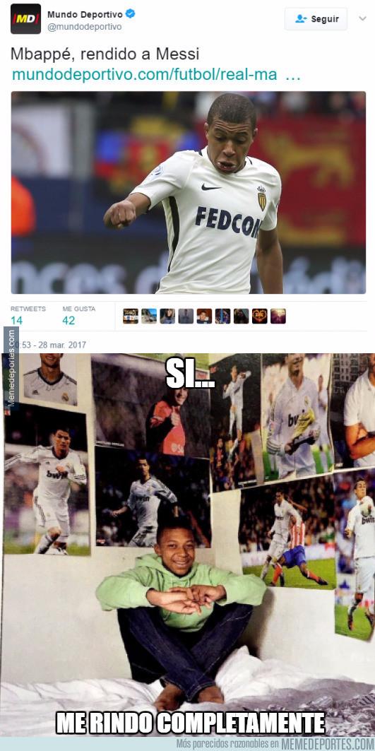 963224 - Mundo Deportivo queda retratado tras este titular de Mbappé con una simple foto