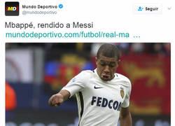 Enlace a Mundo Deportivo queda retratado tras este titular de Mbappé con una simple foto