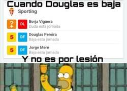 Enlace a Douglas es baja y no es por lesión