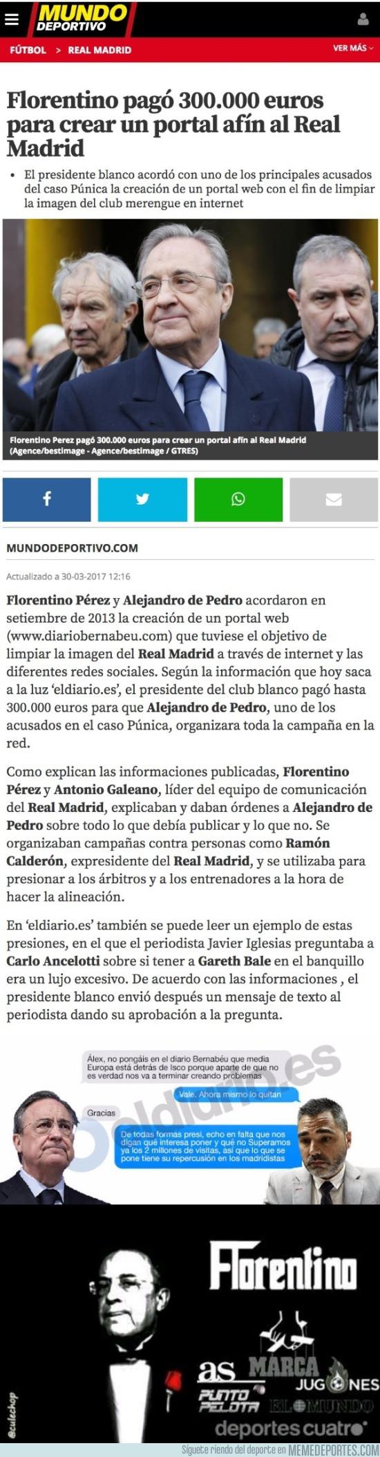 963370 - Florentino pagó por tener un falso diario digital para limpiar la imagen del Madrid