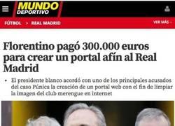 Enlace a Florentino pagó por tener un falso diario digital para limpiar la imagen del Madrid
