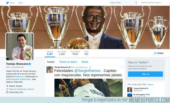 963387 - Roncero debería actualizar la portada de su Twitter