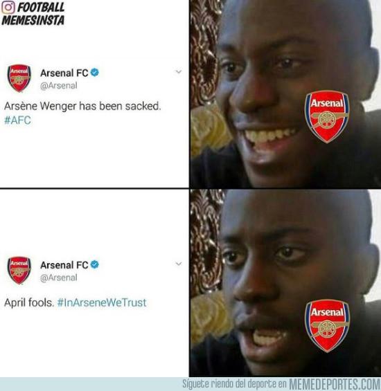 963753 - La pequeña broma del Arsenal por el día de los Inocentes