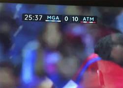 Enlace a La explicación de lo que ha pasado con el marcador en el Málaga - Atlético