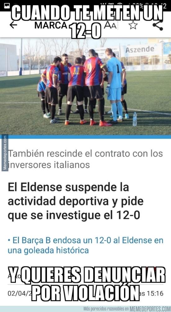 964104 - Indignación por parte del Eldense tras el 12-0 del Barça