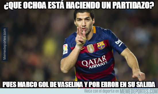 964221 - Suárez se la saca frente a Ochoa