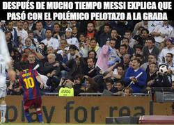 Enlace a Después de mucho tiempo, Messi explica que pasó con el polémico pelotazo a la grada