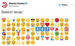 Enlace a Atlanta Hawks resume con emojis su temporada en la NBA