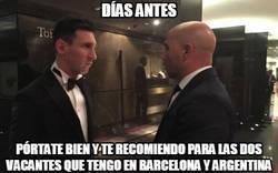 Enlace a Messi tiene todo controlado
