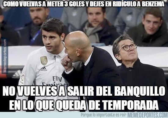 965024 - Como vuelvas a meter 3 goles y dejes en ridículo a Benzema...
