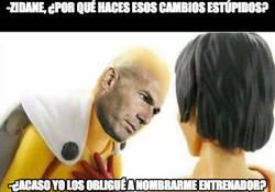 Enlace a Zidane y sus desastrosas tácticas