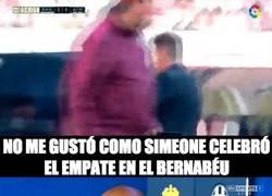 Enlace a La reacción de Henry al ver la celebración de Simeone al empatar contra el Madrid