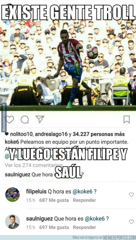 965876 - La gran trolleada de Filipe Luis y Saúl a Koke en Instagram